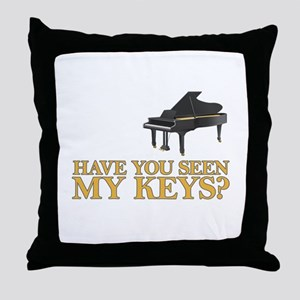 Have you seen my keys? Throw Pillow