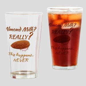 Funny Health Food Almond Milk Drinking Glass