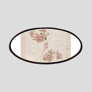 Vintage Antique Victorian Cream Floral Patches