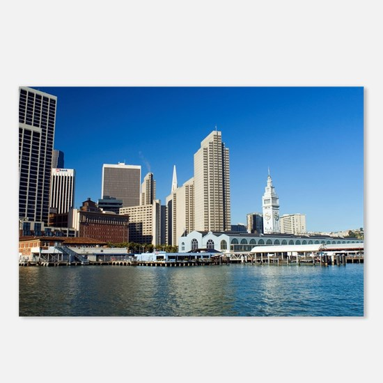 downtown at the embarcade Postcards (Package of 8)