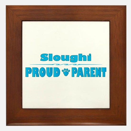 Sloughi Parent Framed Tile