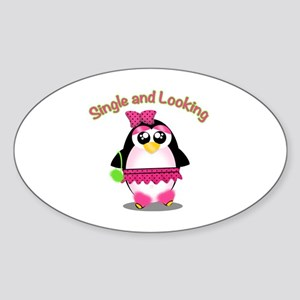 Single and Looking Cute Penguin Sticker