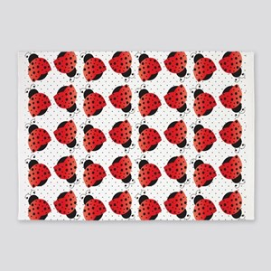 Cute Ladybugs 5'x7'Area Rug