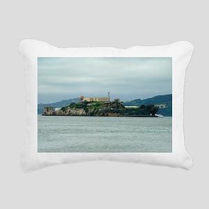 Alcatraz Island san fran Rectangular Canvas Pillow