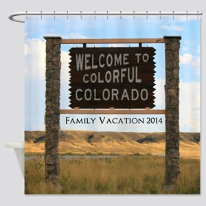 Customizable Colorful Colorado Sign Shower Curtain