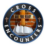 Cross Encounters Round Car Magnet