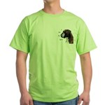 I Love My Boxer Green T-Shirt
