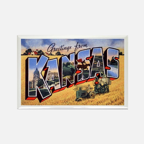 Kansas Greetings Rectangle Magnet
