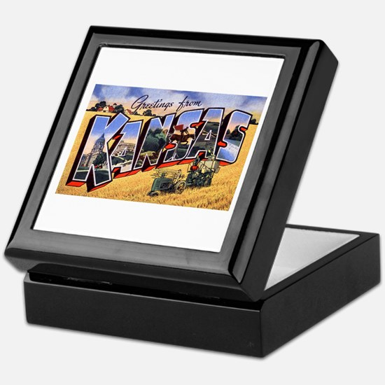 Kansas Greetings Keepsake Box