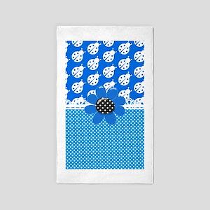 Ladybug Blues 3'x5' Area Rug