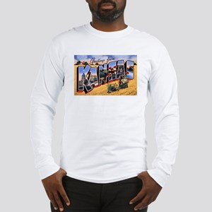 Kansas Greetings (Front) Long Sleeve T-Shirt
