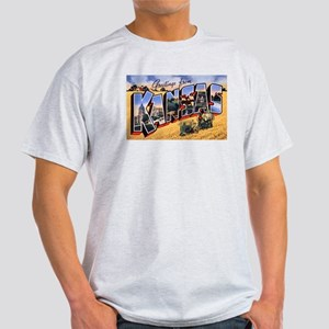 Kansas Greetings (Front) Light T-Shirt
