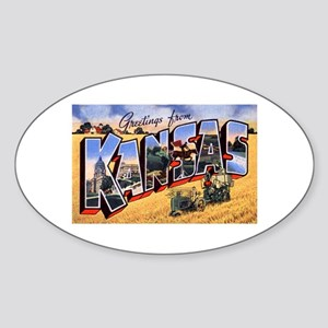 Kansas Greetings Oval Sticker