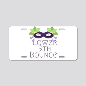 Lower Ninth Bounce Aluminum License Plate