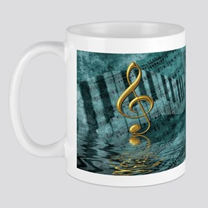 Treble Clef Composition Mug