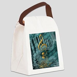 Treble Clef Composition Canvas Lunch Bag
