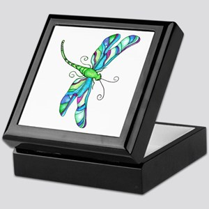 stainedGlassDragonfly Keepsake Box