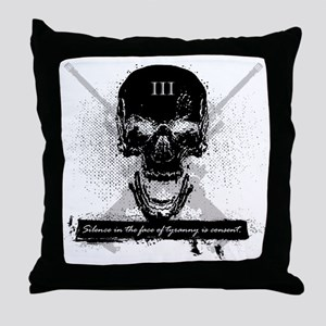 Silence is Consent Throw Pillow