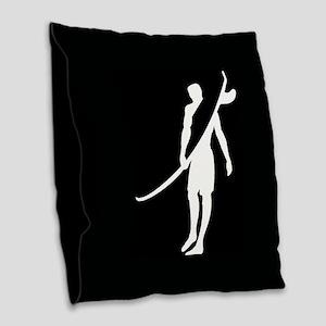 SURFER, DUDE Burlap Throw Pillow