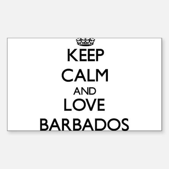 Keep Calm and Love Barbados Decal