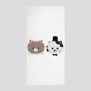 Cat Wedding Couple Cn557 Beach Towel
