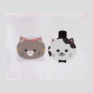 Cat Wedding Couple Cn557 Throw Blanket