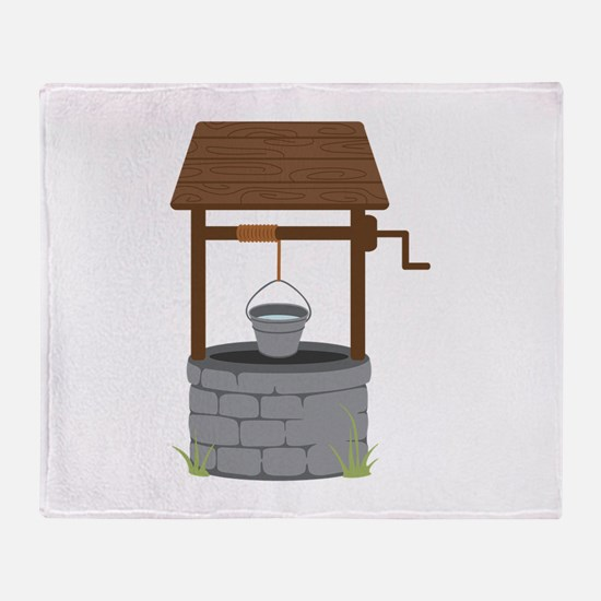 Water Well Throw Blanket