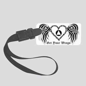 SOBRIETY HEART AND WINGS Small Luggage Tag