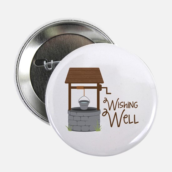 "Wishing Well 2.25"" Button"