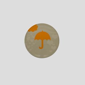 Yellow Umbrella Beige Mini Button