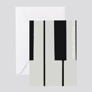 piano keys stylz Greeting Cards