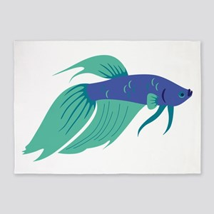 Betta Fish 5'x7'Area Rug