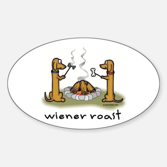 Wiener Roast Wiener Dog Oval Decal