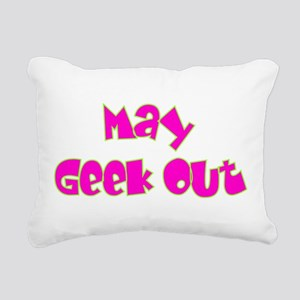 May Geek Out Rectangular Canvas Pillow
