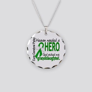 Cerebral Palsy HeavenNeededH Necklace Circle Charm