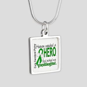 Cerebral Palsy HeavenNeede Silver Square Necklace