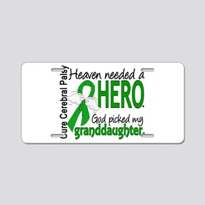 Cerebral Palsy HeavenNeeded Aluminum License Plate