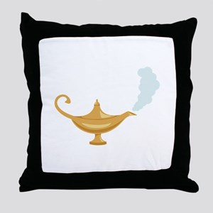 Genie Lamp Bottle Throw Pillow
