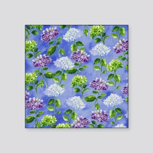 Hydrangeas Floral Blue Sticker