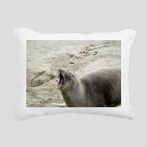 barking seal Rectangular Canvas Pillow
