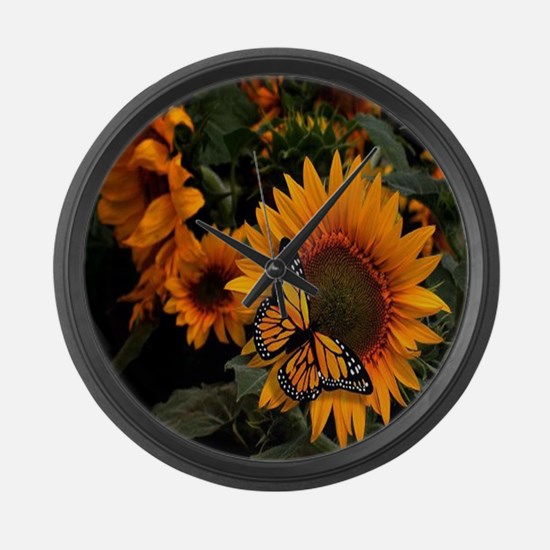 Sunflower Radiance Monarch Butterfly Large Wall Cl