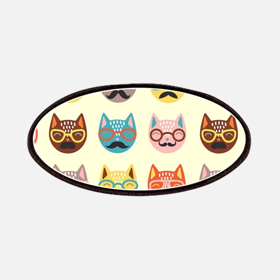 Hipster Cats Patches