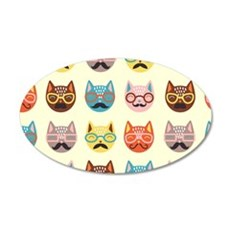 Hipster Cats Wall Decal
