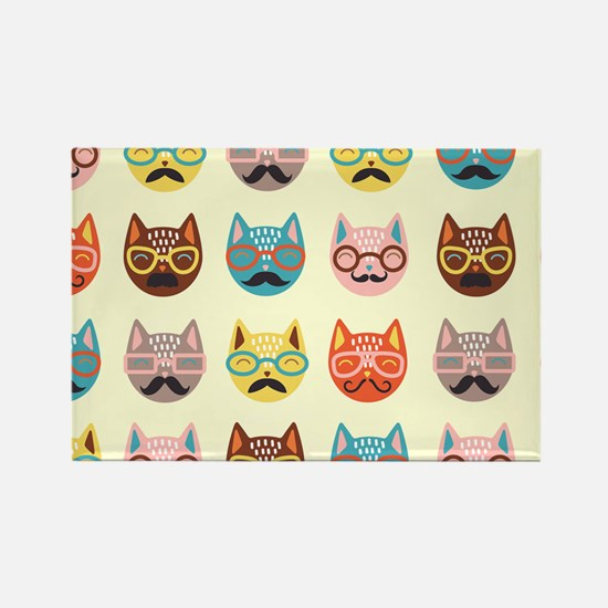 Hipster Cats Magnets