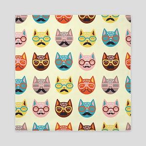 Hipster Cats Queen Duvet