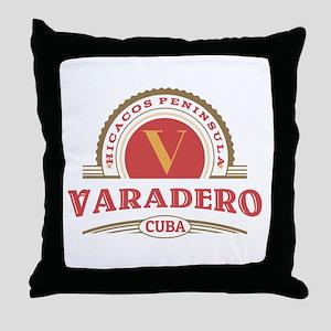 Varadero Retro Badge Throw Pillow