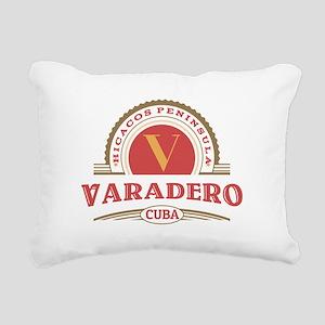 Varadero Retro Badge Rectangular Canvas Pillow