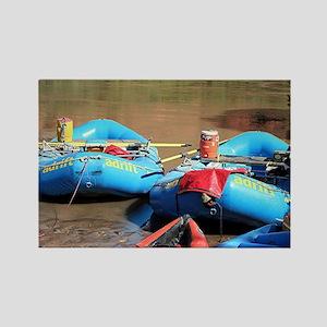Rafts, Colorado River, Utah, USA Rectangle Magnet