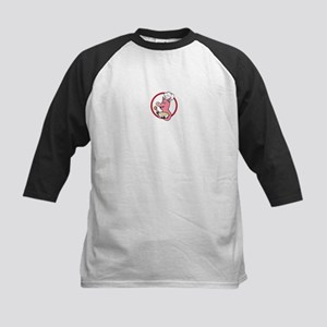 Pig Chef Cook Holding Bowl Cartoon Baseball Jersey