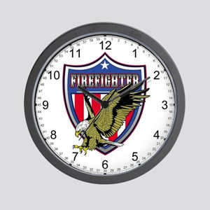 Firefighter Eagle Wall Clock
